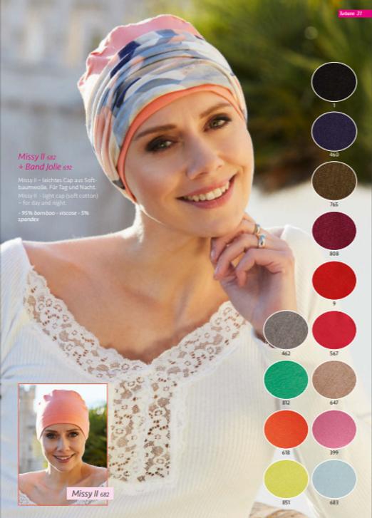 Turbante oncológico en tela de bambú muy suave,Su diseño esta especialmente creado para cubrir todas las zonas afectadas por la alopecia causada por los tratamientos de quimioterapia y radioterapia  Lima - Perú.