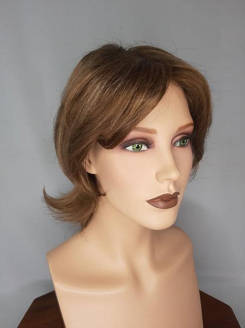peluca rubio cenizo oscuro , se puede usar con cintas adhesivas
