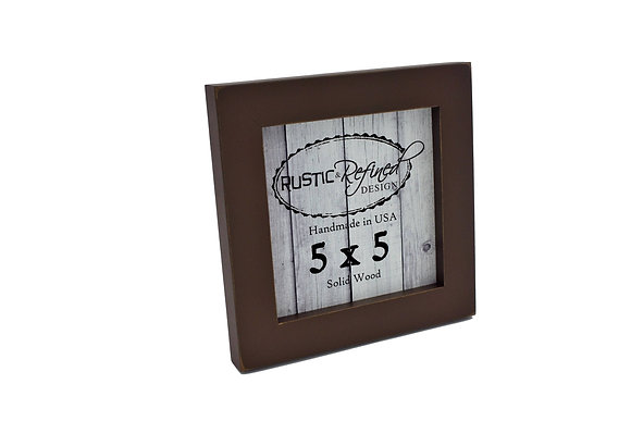 "5x5 1"" Gallery Picture Frame - Chocolate Brown"