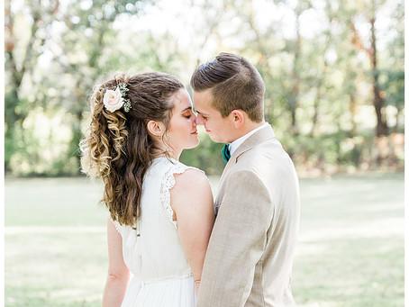 Raegan & Ethan - Intimate Backyard Wedding Tulsa, Oklahoma