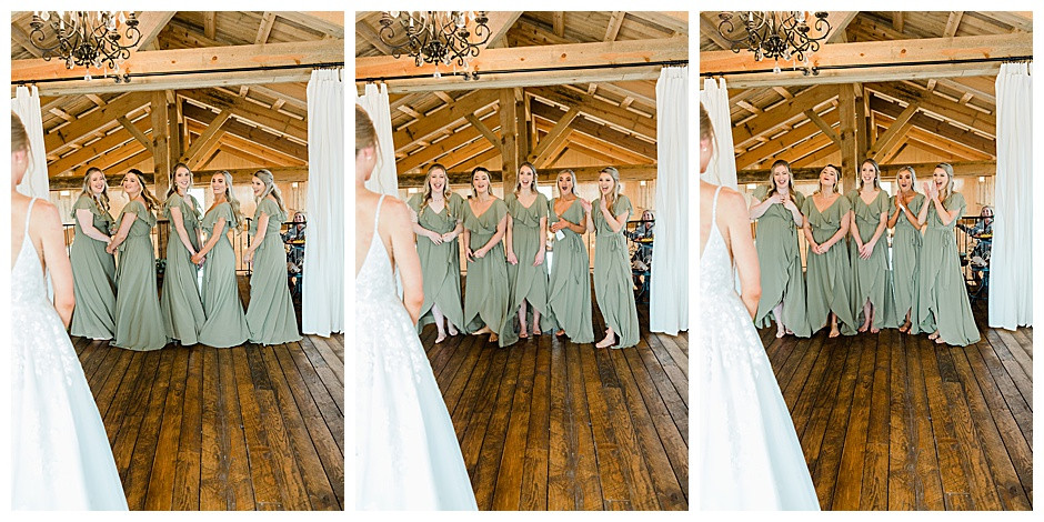 Bridesmaids first look reactions.