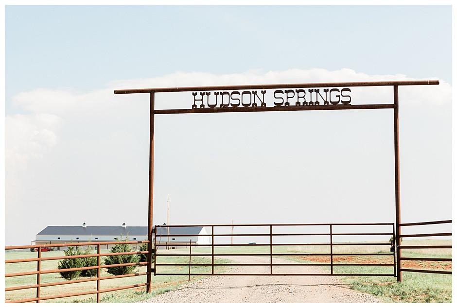 Hudson Springs Events Entrance