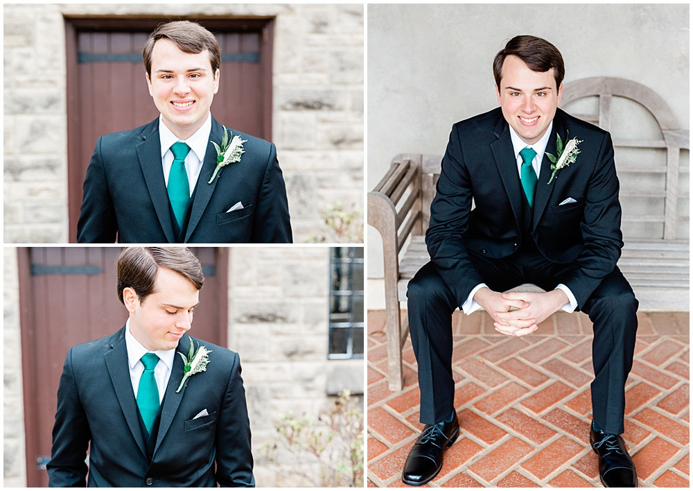 Groom portraits at the E W Marland Mansion.