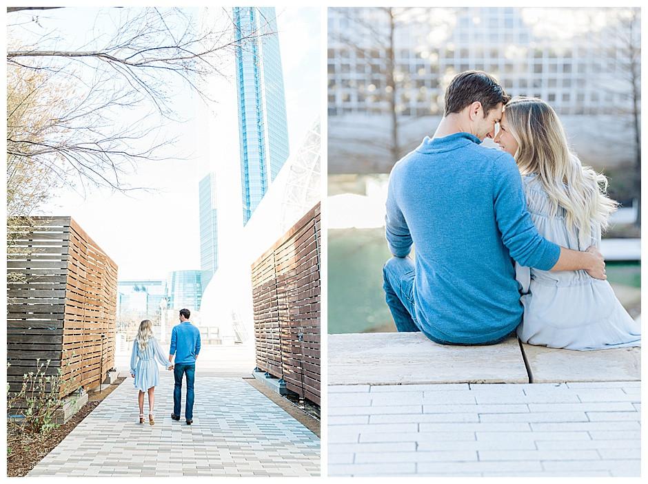 Couple walking near downtown Oklahoma City.