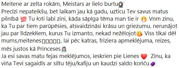 facebook testimonial, Monta Davidova