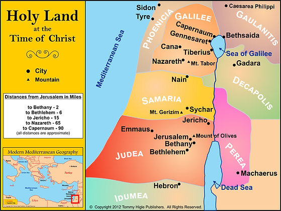 Digital New Testament Maps for Presentations