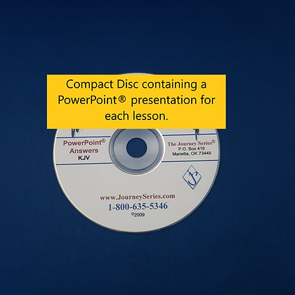 PowerPoint® Answers for Journey with the Messiah (Part One)