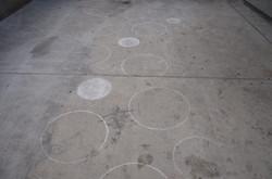 kreise auf beton
