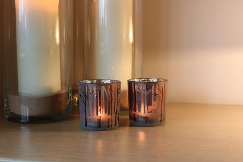 2 Woodland Tealight Holders