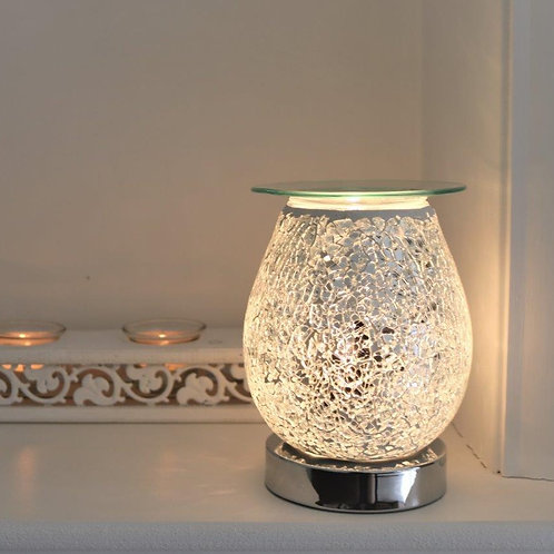 Silver Mosaic - Glass Touch Sensitive Aroma Lamp