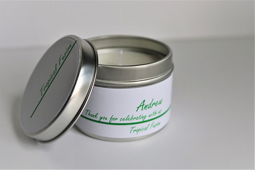 Tropical Fusion Candle Taster Tin - Personalised