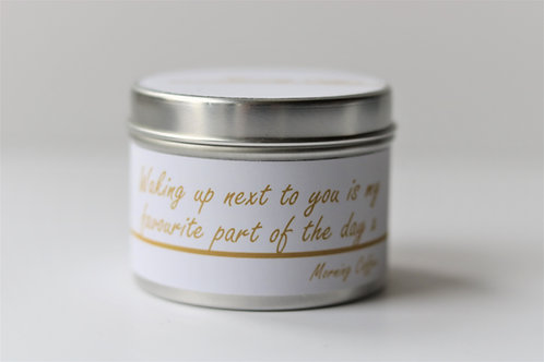 Morning Coffee Candle Taster Tin - Personalised