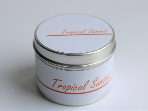 Tropical Sunset Candle Taster Tin - CDH Design
