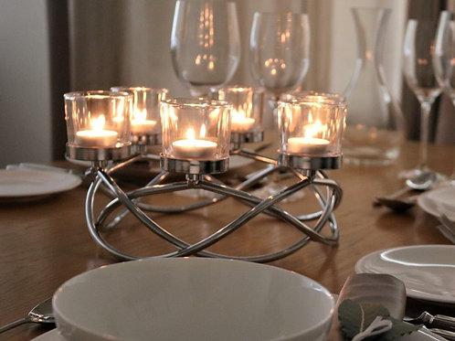 Silver Swirl Tealight Centrepiece