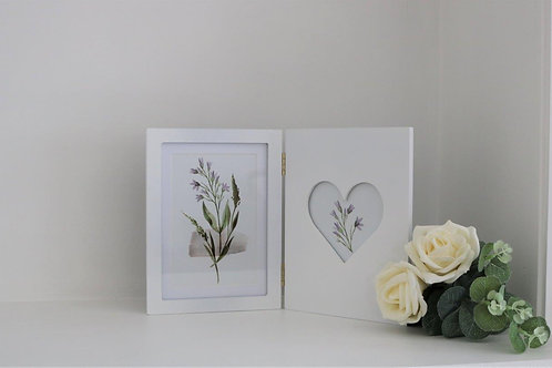 White Folding Picture Frame