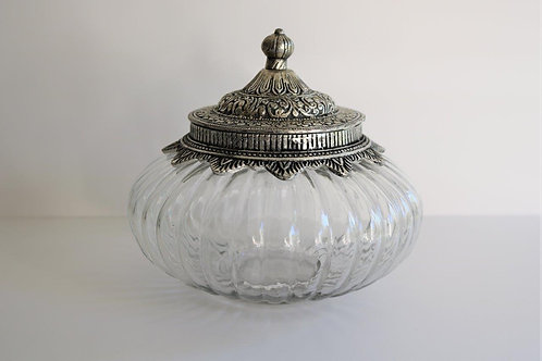 Vintage Inspired Glass Jar with Lid