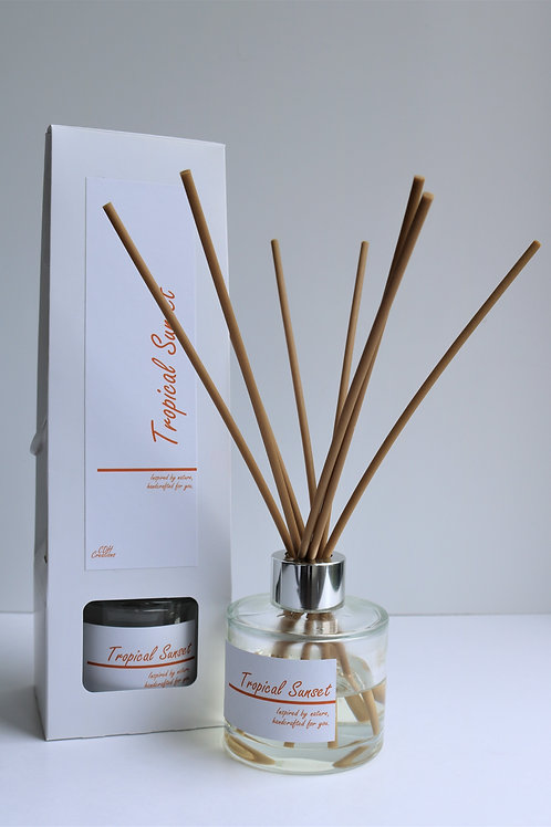 Tropical Sunset Reed Diffuser - Personalised