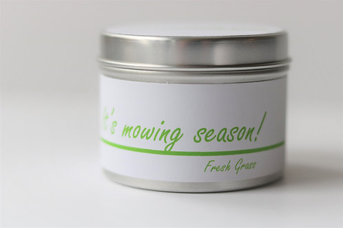 Fresh Grass Candle Taster Tin - Personalised