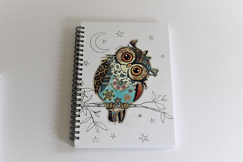 Owen Owl A5 Hardback Notebook