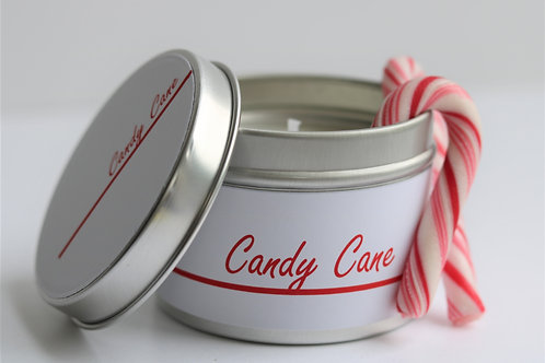 Candy Cane Candle Taster Tin - CDH Design