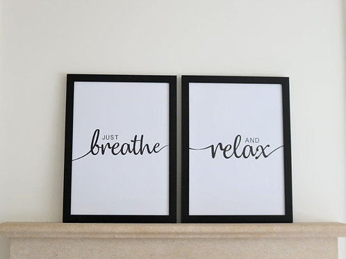 Breathe & Relax - Framed Canvas Prints
