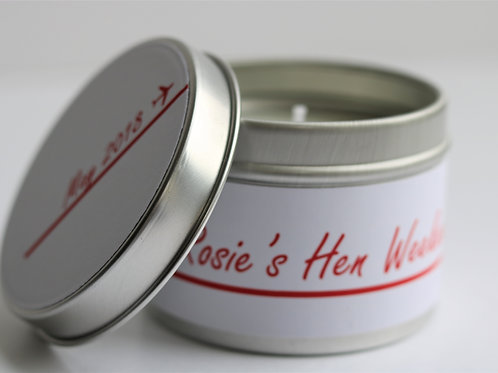 Candy Cane Candle Taster Tin - Personalised