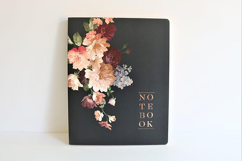 Rose Noir Large Notebook