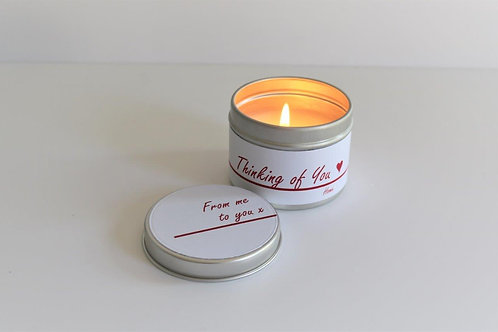 Home Candle Taster Tin - Personalised