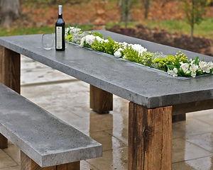 mobilier de jardin en béton