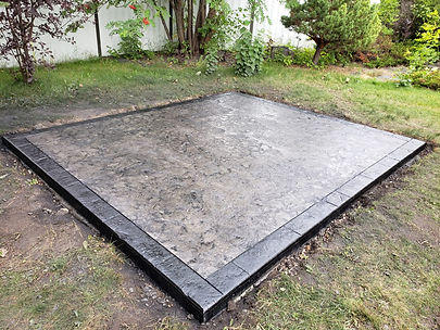 stamped concrete slab