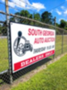 South Georgia Auto Auction Sign