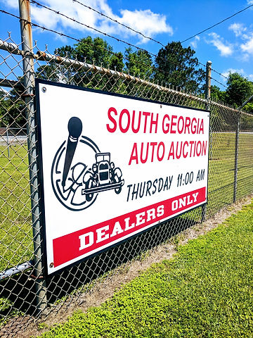 South Georgia Auto Auction Sign