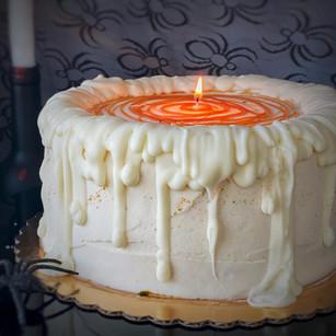 Halloween themed salted caramel cake