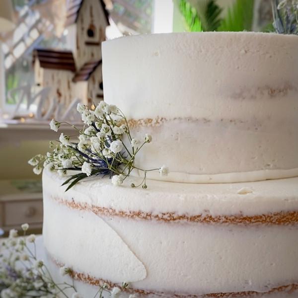 'Naked Wedding cake'