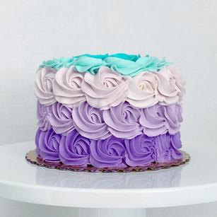 "6"" Round rossette cake"