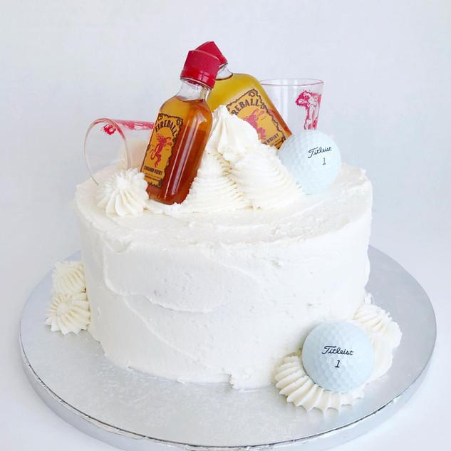 "8"" Boozy Fireball cake"