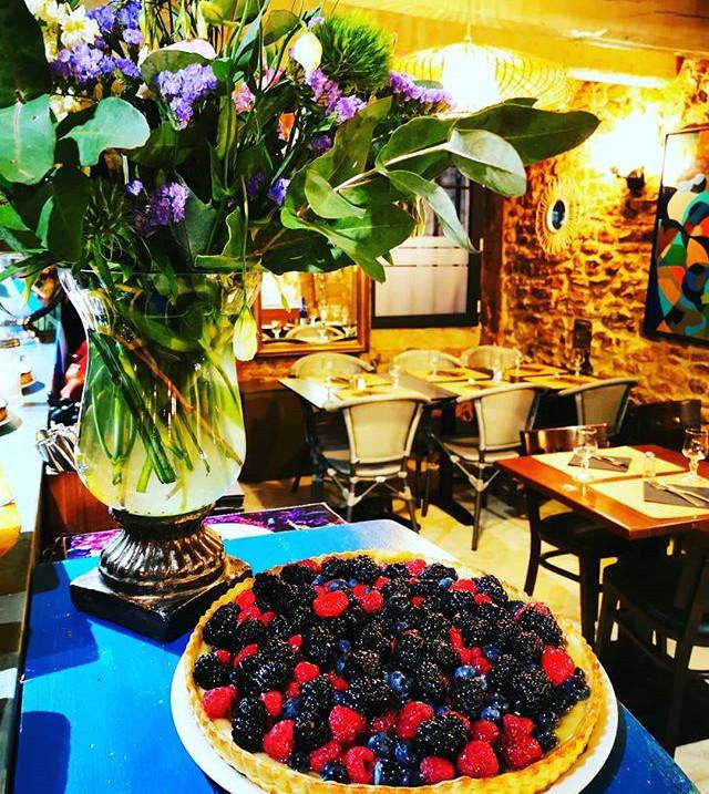Notre tarte aux fruits rouges et le joli