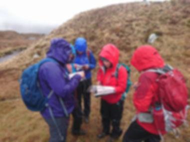 Students practicing navigation