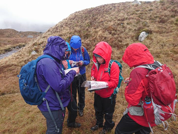 Students practicing navigation
