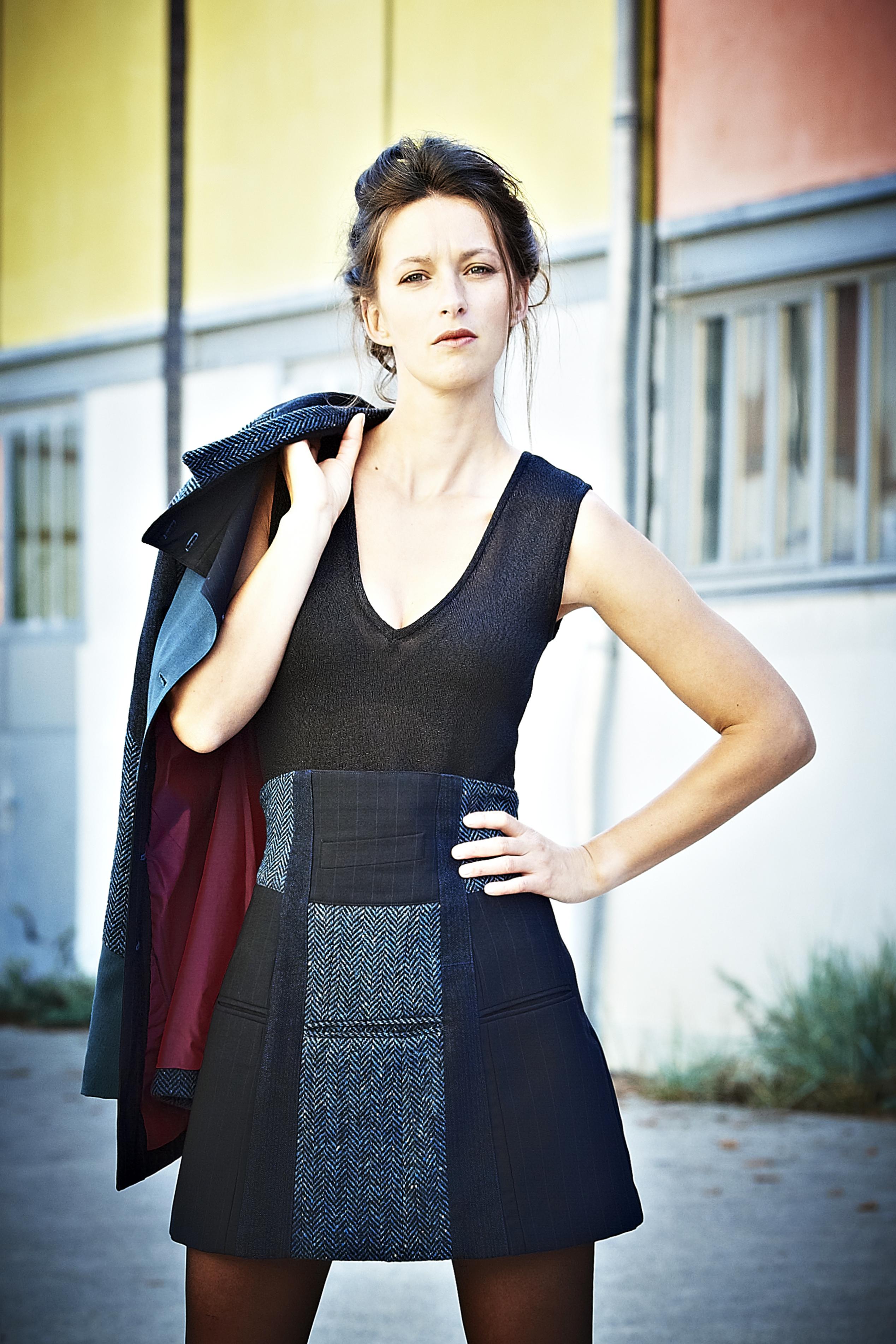 jupe évasée taille haute