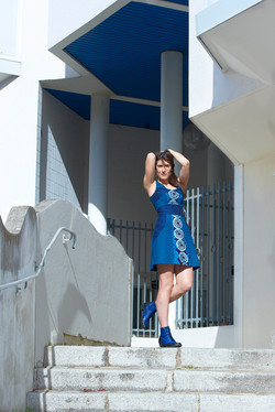 robe ceinturée taille haute