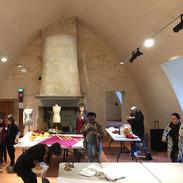 l'atelier collectif installé au grand logis