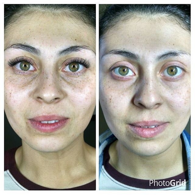 Is this not an amazing before and after_ This is with absolutely no filter!! #volumelashesaustin #ru