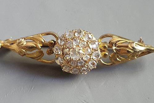 Maravilloso broche oro y diamantes