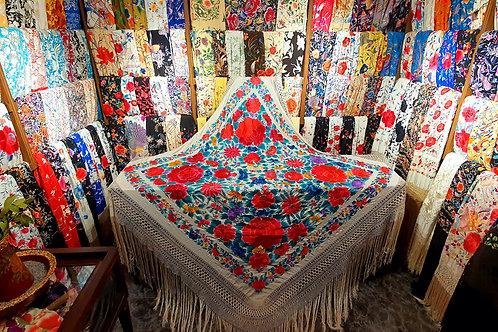 Espectacular mantón antiguo