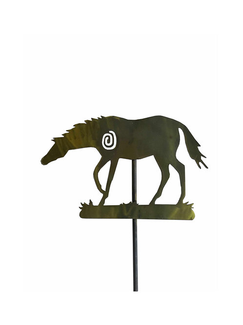 Horse Yard Stake, Squiggle (Yellow Metallic)
