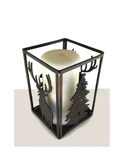 Deer Candle Holder (Black Satin)