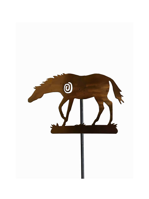 Horse Yard Stake, Squiggle (Copper)