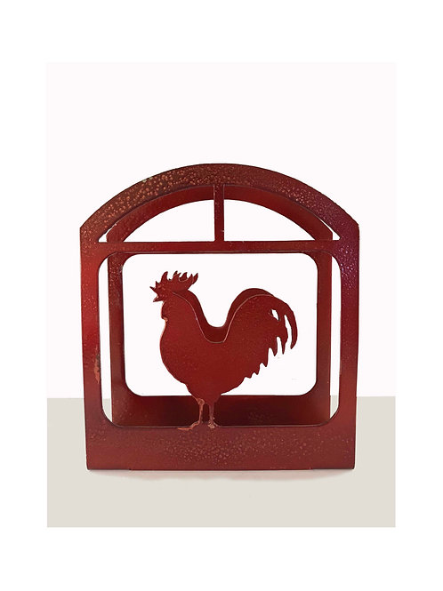 Rooster Napkin Holder (Metallic)