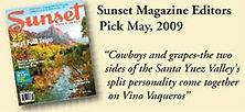 Sunset Magazine Editors Pick May 2009